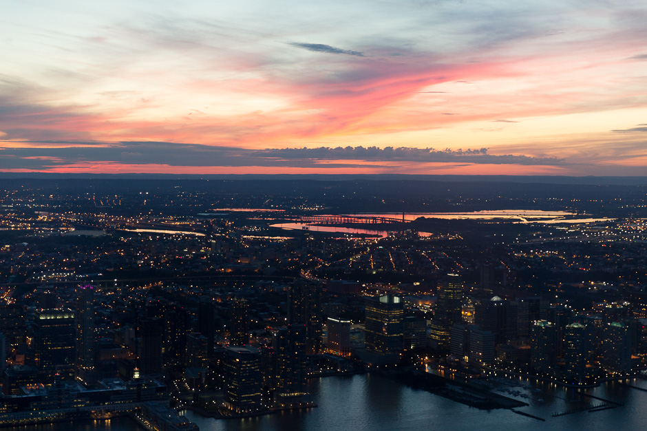 Sonnenuntergang gesehen vom One World Trade Center aus